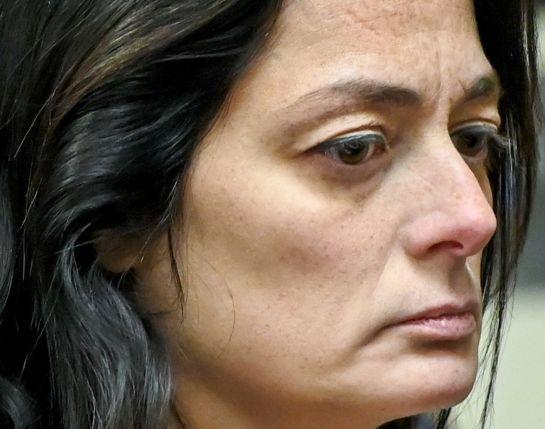 Ugly haggard Angela Pollina in court