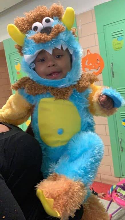 Jayden McGee at Halloween