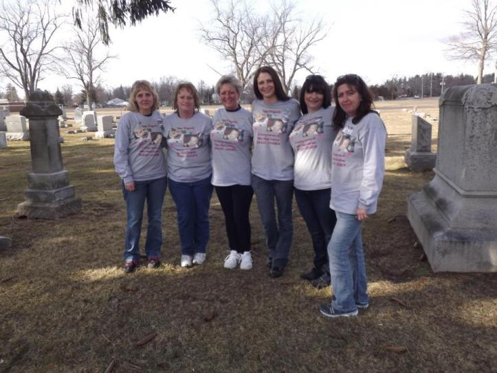 Members of Alissa's Army near her gravesite, including Bernadine Buccafuri (third from left). (BabyAlissaCries4Justice)