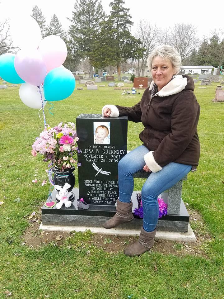 BabyAlissaCries4Justice administrator Bernadine Buccafuri at Alissa's memorial. (Facebook)