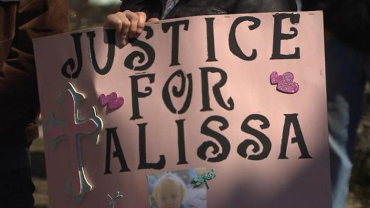 Justice for Alissa Guernsey sign on Inside Edition