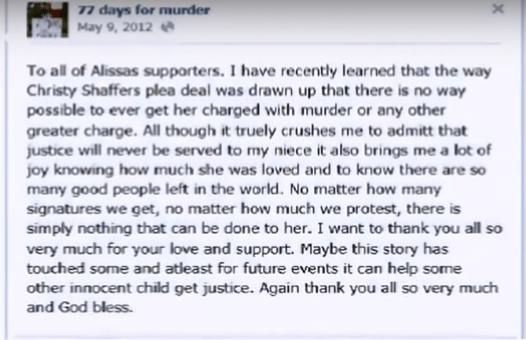 77 days for murder post