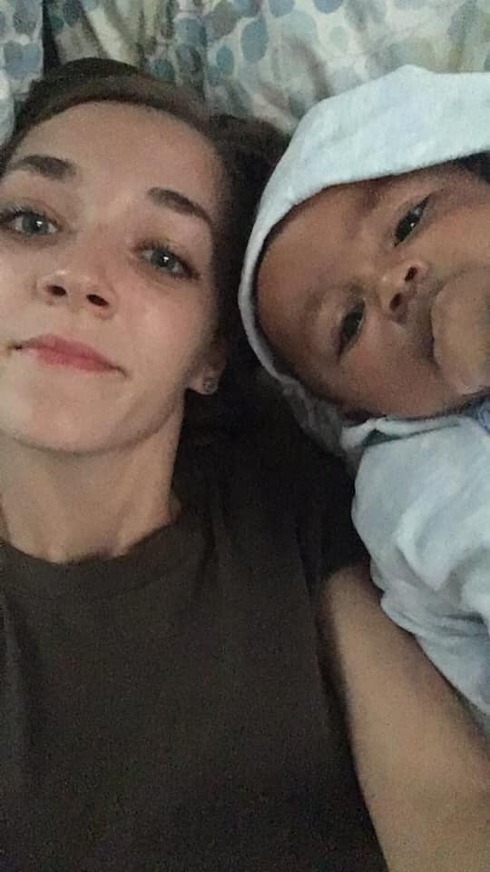 Alyssa Carpenter and son Ky'mani Moore