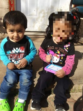 Frankie Gonzales and his older sister in January
