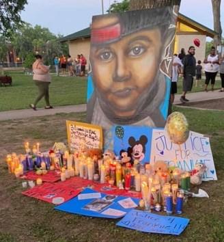 Frankie Gonzalez memorial at Cameron Park tree