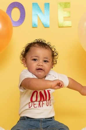 Ky'mani Moore first birthday picture