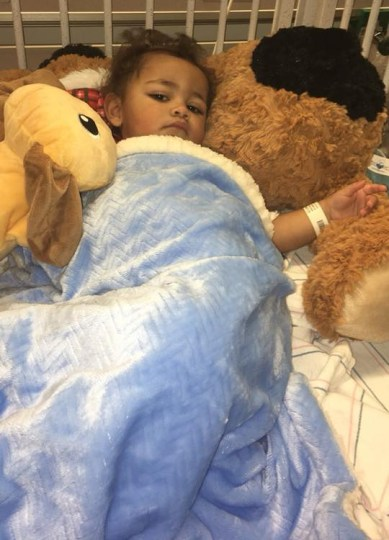 Ky'mani Moore in the hospital