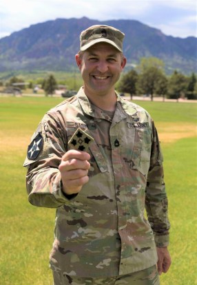 Sergeant 1st Class Ryan Sabin in May of 2020