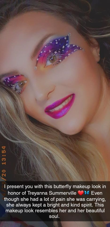 Glitter Me Glamorous with Hannah makeup look in memory of Treyanna Summerville
