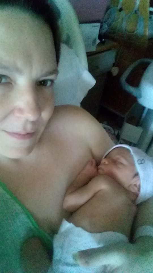 Lisa Reed with one of her twin boys