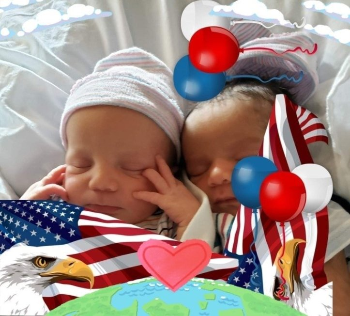 Newborn Zion and Zyaire Reed