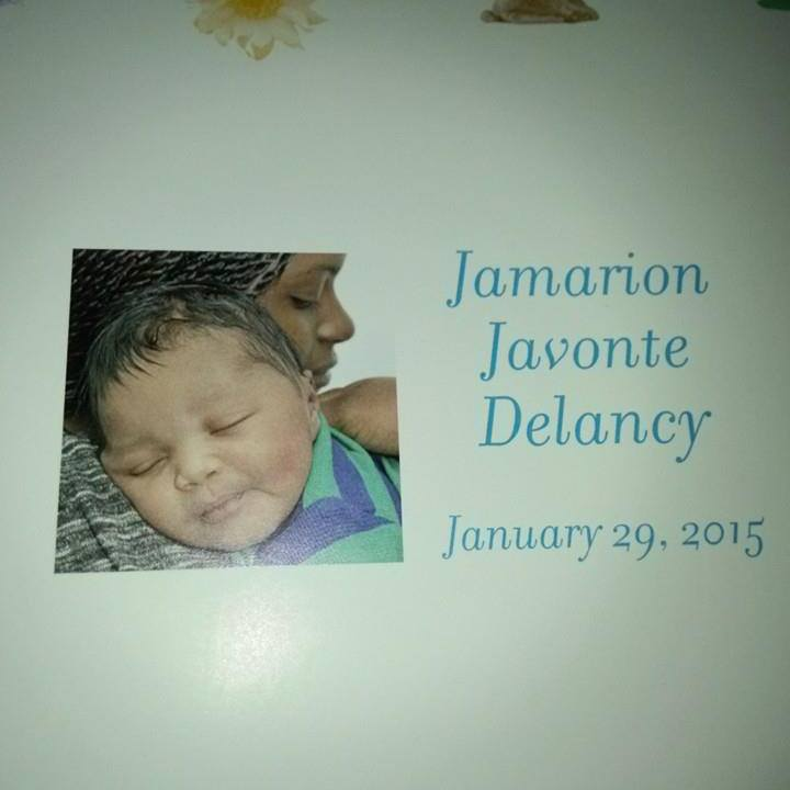 Jamarion Delancy birth announcement