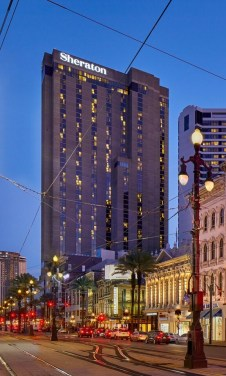 Sheraton Hotel on Canal Street in New Orleans, Louisiana