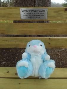Averylee Hobbs Bunnay on memorial bench