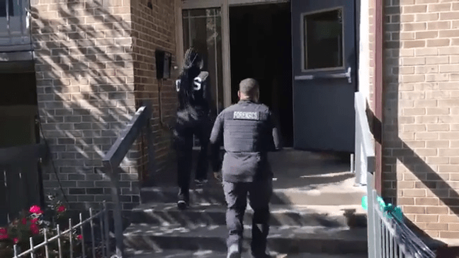Police at apartment building where Kyon Jones disappeared
