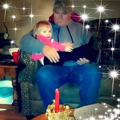 Arianna Starkey and her maternal great-grandfather. (Facebook)