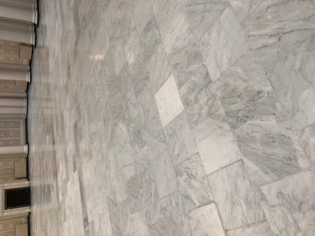 Marble Floor During Burnishing 1500-grit Palm Court Harvest House Felixstowe