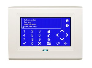 White Touch Screen Image