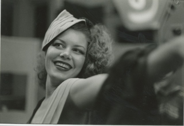 Ms. Royalle, in a photo taken by Daniel Nicoletta in San Francisco in the mid-'70's, during a performance at a Salon. (Credit: courtesy, Facebook)