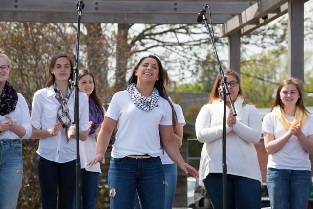 Greenport High School's a capella group. (Credit: Katharine Schroeder)