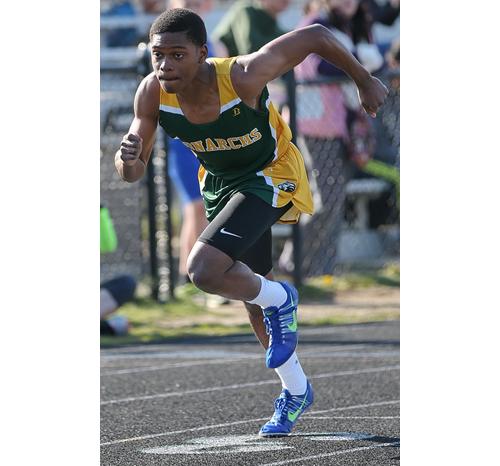Bishop McGann-Mercy track athlete Dale Kelly 041216