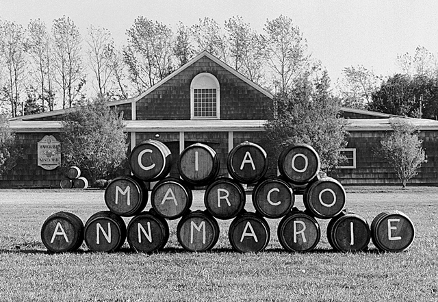 In October 1999, Alex and Louisa Hargrave greeted Marco and Ann Marie Borghese upon the sale of their vineyard with this heartfelt greeting. The message remains poignant today. (Credit: Judy Ahrens, file)