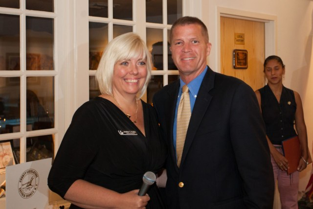 Southold Town Supervisor Scott Russell with Jennifer Fowler. (Credit: Katharine Schroeder)