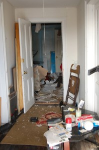 The inside of the home was disheveled Wednesday afternoon. (Credit: Cyndi Murray)