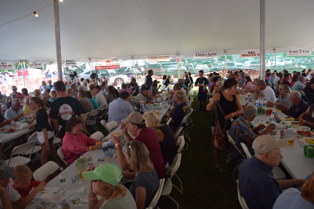 The crowd at the 58th annual Cutchogue Fire Department Chicken Barbecue. (Credit: Vera Chinese)