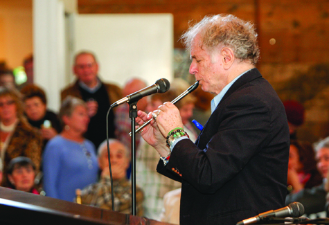 RANDEE DADDONA FILE PHOTO | Composer David Amran showed off his talents with a Winterfest performance at Castello di Borghese Vineyard & Winery in Cutchogue Sunday.