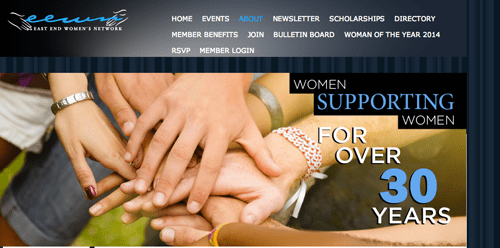 East End Women's Network is seeking Woman of the Year nominations. (Screen shot of EEWN's website captured by Jennifer Gustavson)