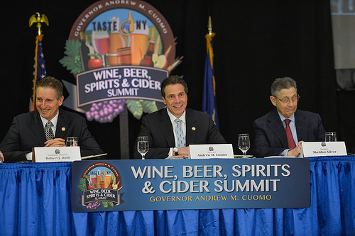 Gov. Andrew Cuomo announces new reforms to ease restrictions on farm wineries. (Credit: Gov. Andrew Cuomo's office)