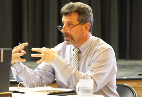 JENNIFER GUSTAVSON FILE PHOTO | Greenport Superintendent Michael Comanda plans to retire next year, according to Wednesday's school board agenda.