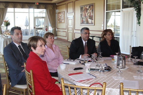 JENNIFER GUSTAVSON PHOTO | Greenport and Southold school officials at Diane Ravitch's meeting on Tuesday in Hauppauge.