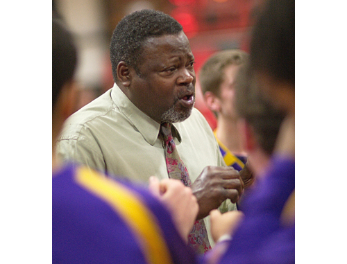 Al Edwards talking to his players during his last game as Greenport's coach. (Credit: Garret Meade, file)