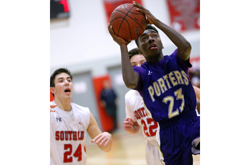 Greenport basketball player Ahkee Anderson 020317