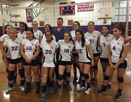 Greenport/Southold following its five-game playoff victory over Port Jefferson on Monday. (Credit: Bob Liepa)