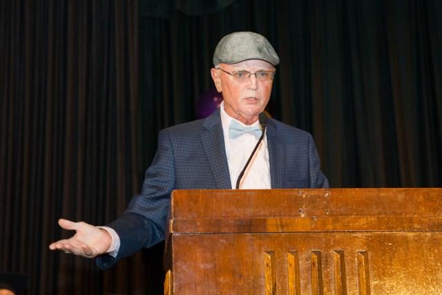 Mr. McEvoy speaks to the students.