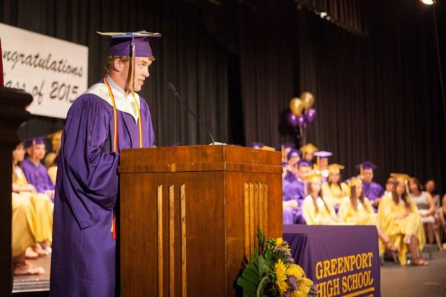 Valedictorian Connor Whittle.