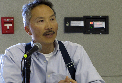 Fred Lee, owner of Sang Lee Farms in Peconic, spoke at the Small Farm Summit about marketing his products to Long Island consumers.