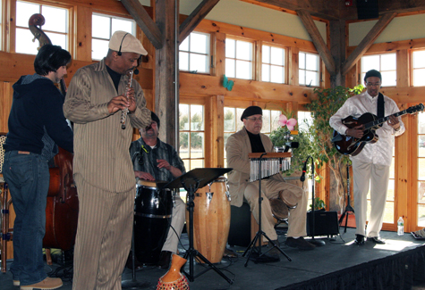 Sabroso Latin Jazz Ensemble performed a sold-out Winterfest event Saturday at Martha Clara Vineyards in Riverhead.