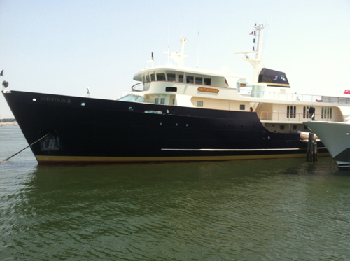 A yacht in Mitchell Park Marina last year. (Credit: File photo)