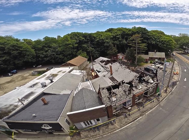 (Credit: Andrew Lepre courtesy) The aftermath of the Friday night fire.