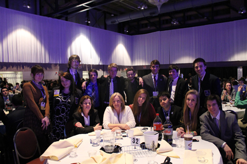 Mattituck High School DECA students at last week's state competition. (Credit: Courtesy)
