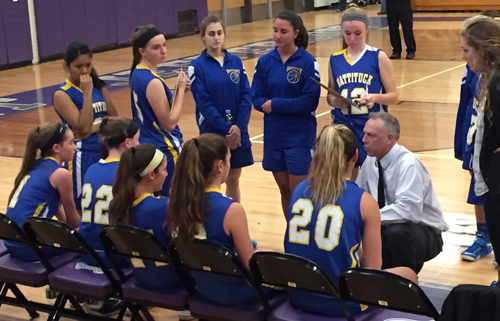 Mattituck girls basketball coach Steve Van Dood 011116