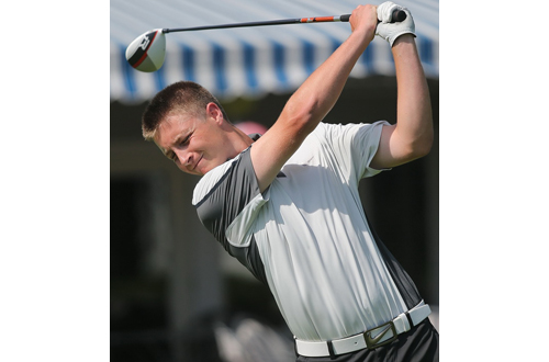 Chris Mauceri had a 44.40 nine-hole average last year for Mattituck, which won its fourth league title in five years. (Credit: Garret Meade)