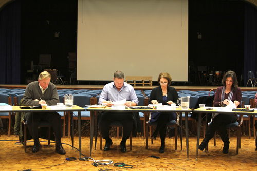 The Mattituck school board Thursday night. (Credit: Jen Nuzzo)