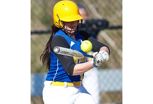 Val Hommel, Mattituck's only senior, had one of the team's six hits against Pierson/Bridgehampton. (Credit: Garret Meade)