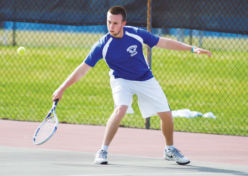 Andrew Young has won his first seven matches this season for Mattituck. (Credit: Katharine Schroeder)