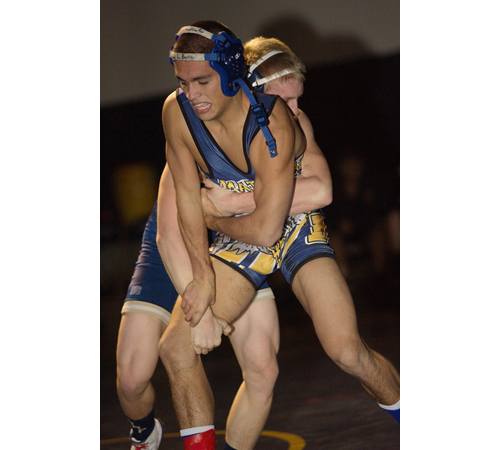 Bobby Becker is the only one of Mattituck/Greenport's seven county champions who has wrestled in the state tournament before. (Garret Meade file photo)